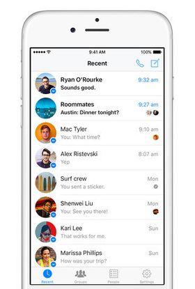 Messenger har fått støtte for 3D Touch.