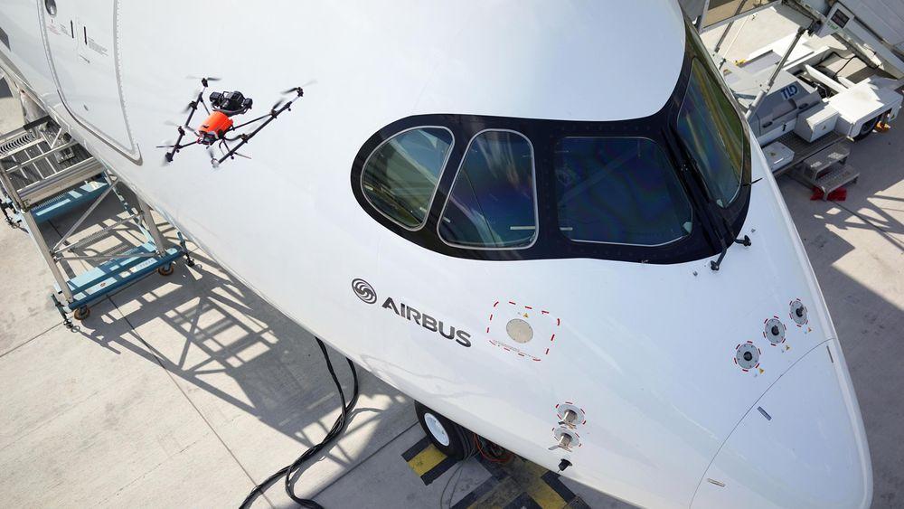 A350 XWB er brukt til å teste det dronebaserte systemet for visuell inspeksjon.
