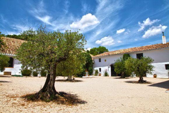 Gårdstunet på Hoya de Cadenas.