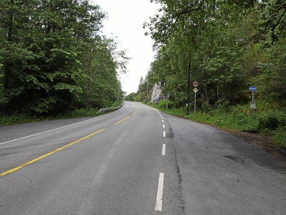 KORT VEI: Stien ved kommunegrensen fører deg fra Gamle Mossevei til Trollåsen på noen få minutter.