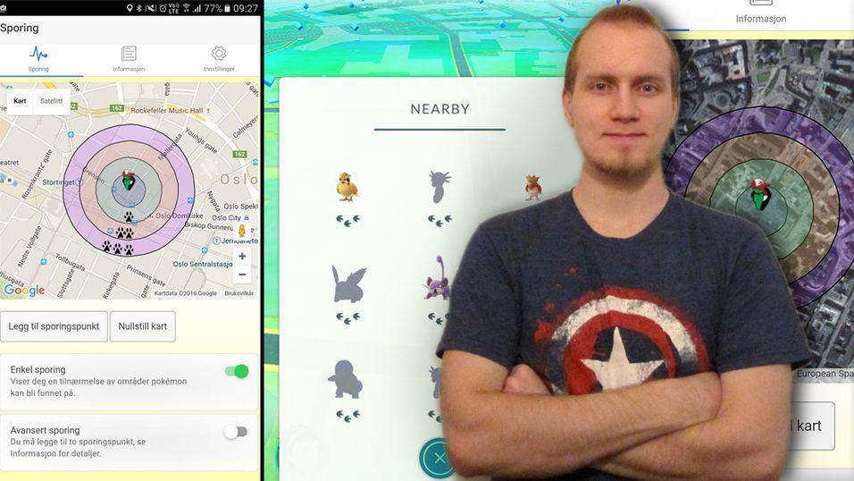 Even Hauger har utviklet appen Poké Tracker, som gjør det lettere å finne alle pokémon i «nearby»-listen din.
