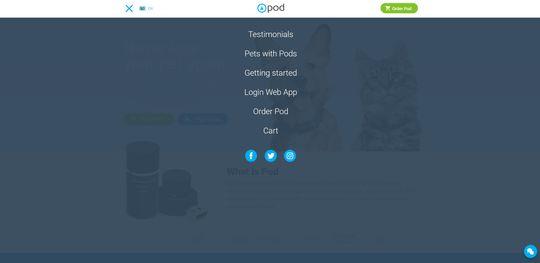 Login Web App heter snarveien som går til selve sporingstjenesten. Menyen dekker naturligvis hele skjermen, enten den 4 eller 40 tommer.