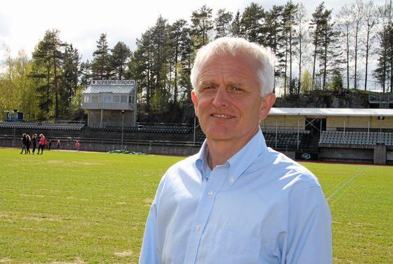 FORNØYD: : Styreleder Jon Erik Ofstad i Kolbotn IL.