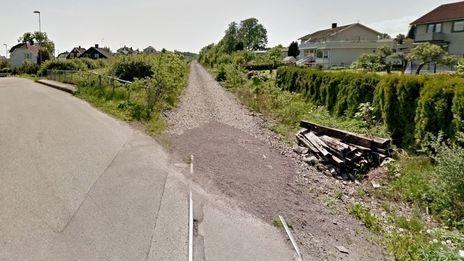 G/s-veg på nedlagt jernbane i Horten