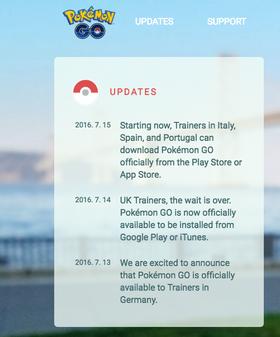 Niantics offisielle melding om lansering i tre nye land.