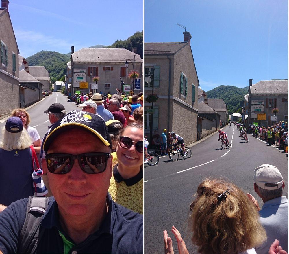 Kjell Rusti på plass i Pyreneene for å følge Tour de France.