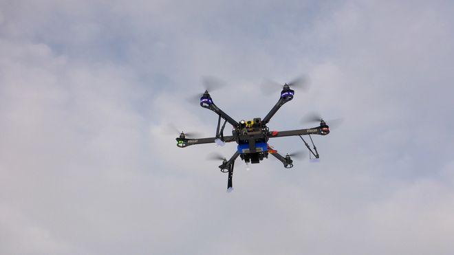 Vil overvåke byggeplassen med droner
