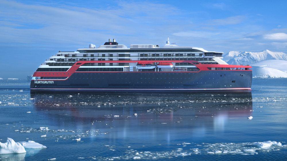 Skipene er designet av Rolls-Royce Marine i samarbeid med den norske yachtdesigneren Espen Øino.