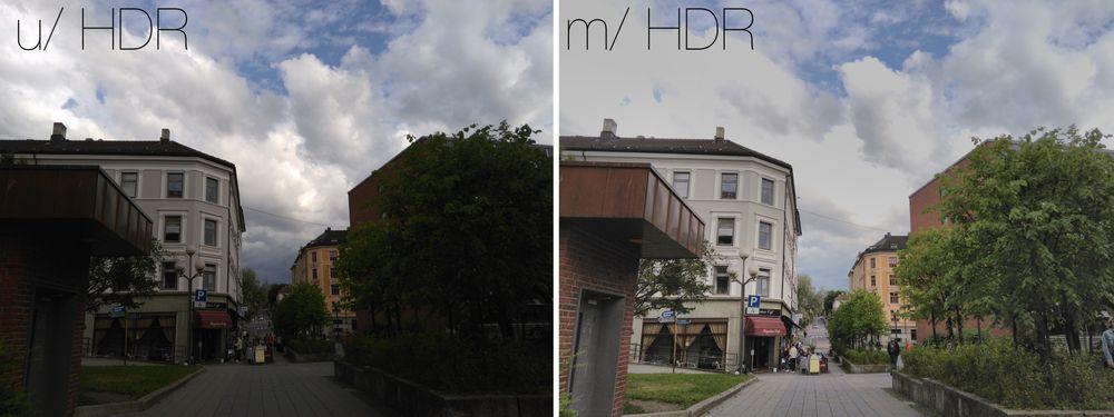 HDR utgjør en stor forskjell, men kan også gjøre høylys svært flatt (se skyene).