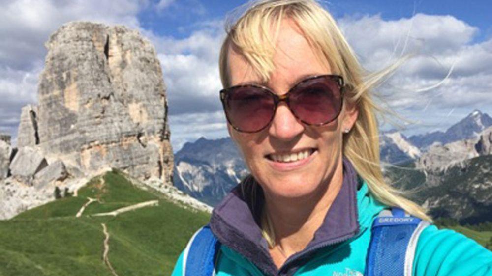 Anne-Sofie Risåsen på topptur i Alpene.