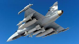 Så langt er Meteor-missilet (nest ytterst på vingene) kun operativt på én flytype: Saab Gripen.