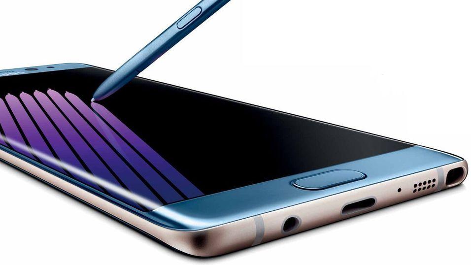 Dette kan være Galaxy Note 7 med den nye S-pennen. Bildet har mye til felles med tidligere ryktebilder av telefonen.