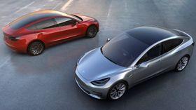 Den kommende Tesla Model 3.