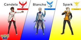 Disse tre leder hvert sitt lag i Pokémon Go.