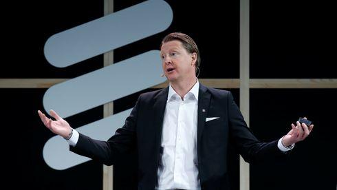 Ericsson sjefen har fått sparken. Det får aksjekursen til å stige