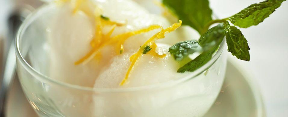 hjemmelaget sitronsorbet