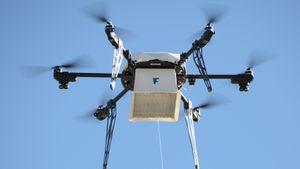 Denne dronen leverer mat rett fra butikken