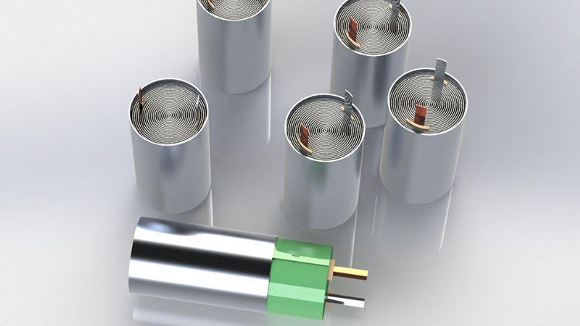 En ny type sylindrisk celle sammen med en ny pakkemetode gi større energitetthet per volum.