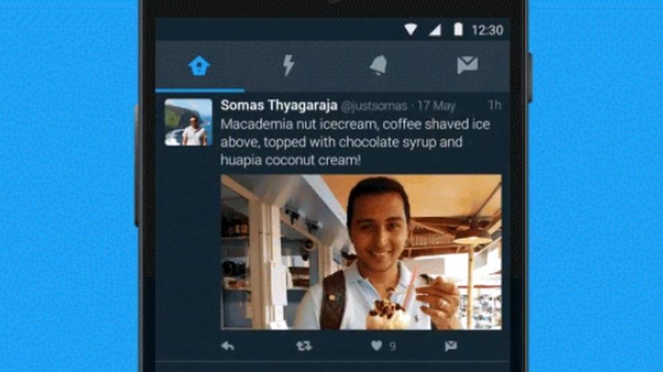 Den nye nattmodusen gir Twitter et mørkere tema.