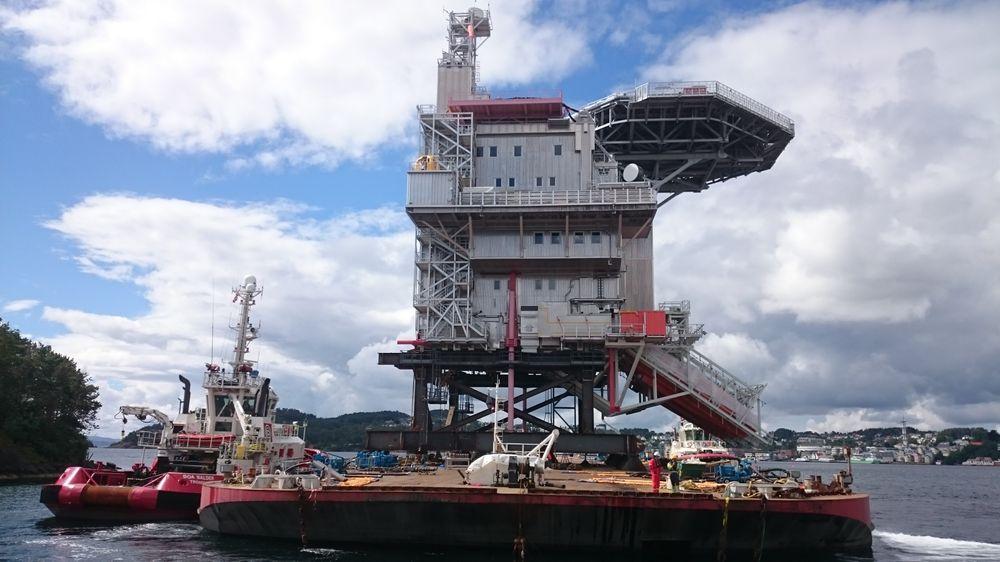 Gina Krogs boligkvarter er klart til å skipes ut til Nordsjøen om ikke lenge. Resten av plattformdekket er på vei fra Asia.