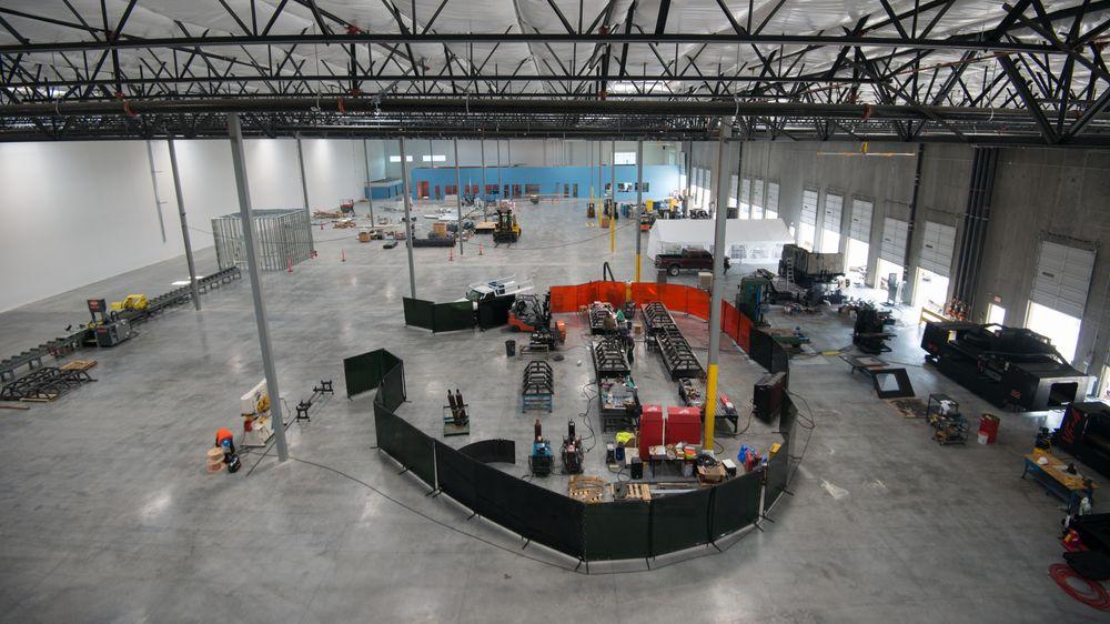 Den nye Hyperloop-fabrikken.
