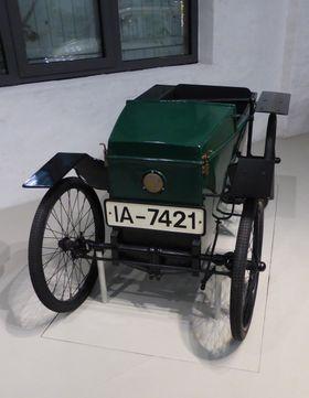 En 1921-modell Slaby-Beringer Elektrowagen, utstilt på Deutschen Technikmuseum i Berlin.