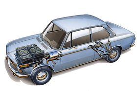 BMW eksperimenterte også med elbiler, som denne 1602e fra 1972.