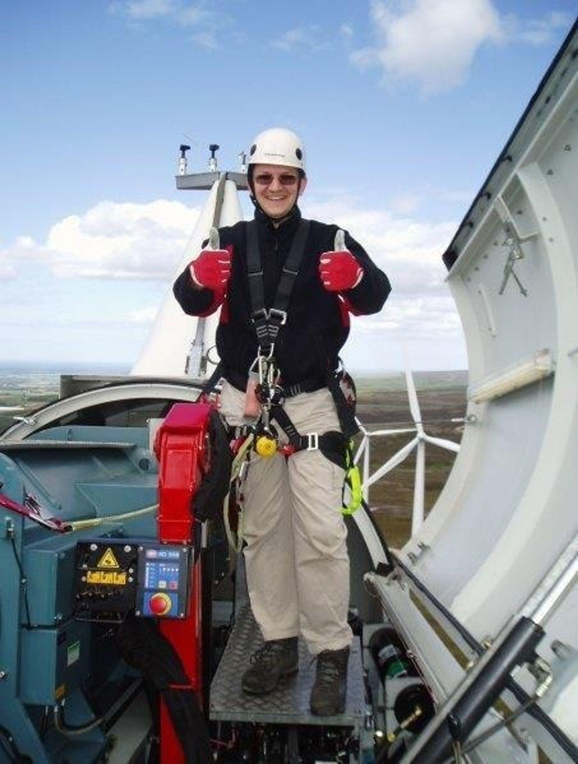Vindmøllekongen: Graeme Cooper leder Storbritannias største non-utility utvikler av vindmølleparker.