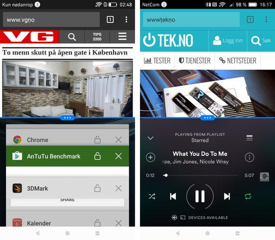 Den nye løsningen for å dele skjermen mellom flere apper fungerer mye bedre enn Huaweis gamle.
