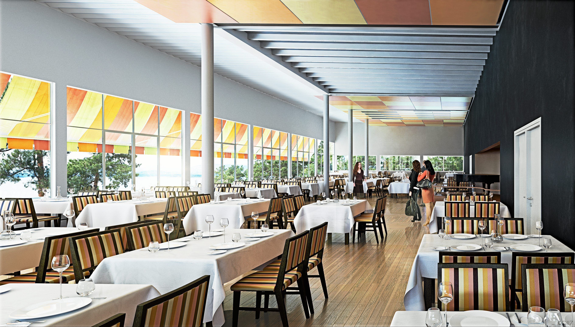 RESTAURERT: Restauranten er gjenskapt slik den var på storhetstiden på 1930-tallet.
