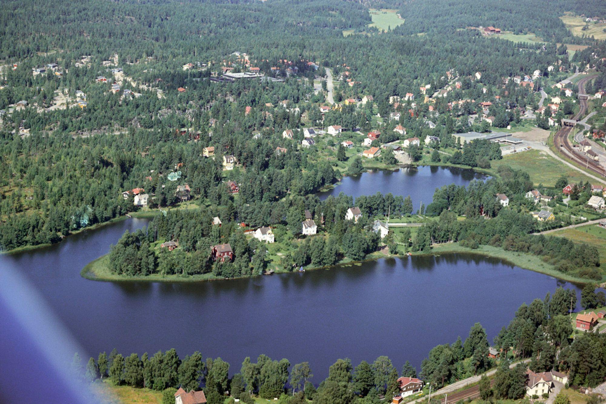I GODE, GAMLE DAGER: Slik så det ut på Kantor, sett fra luften, på 1960-tallet.