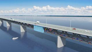 Slik skal roboter male Øresundsbroen - 20 meter av gangen gjennom 13 år