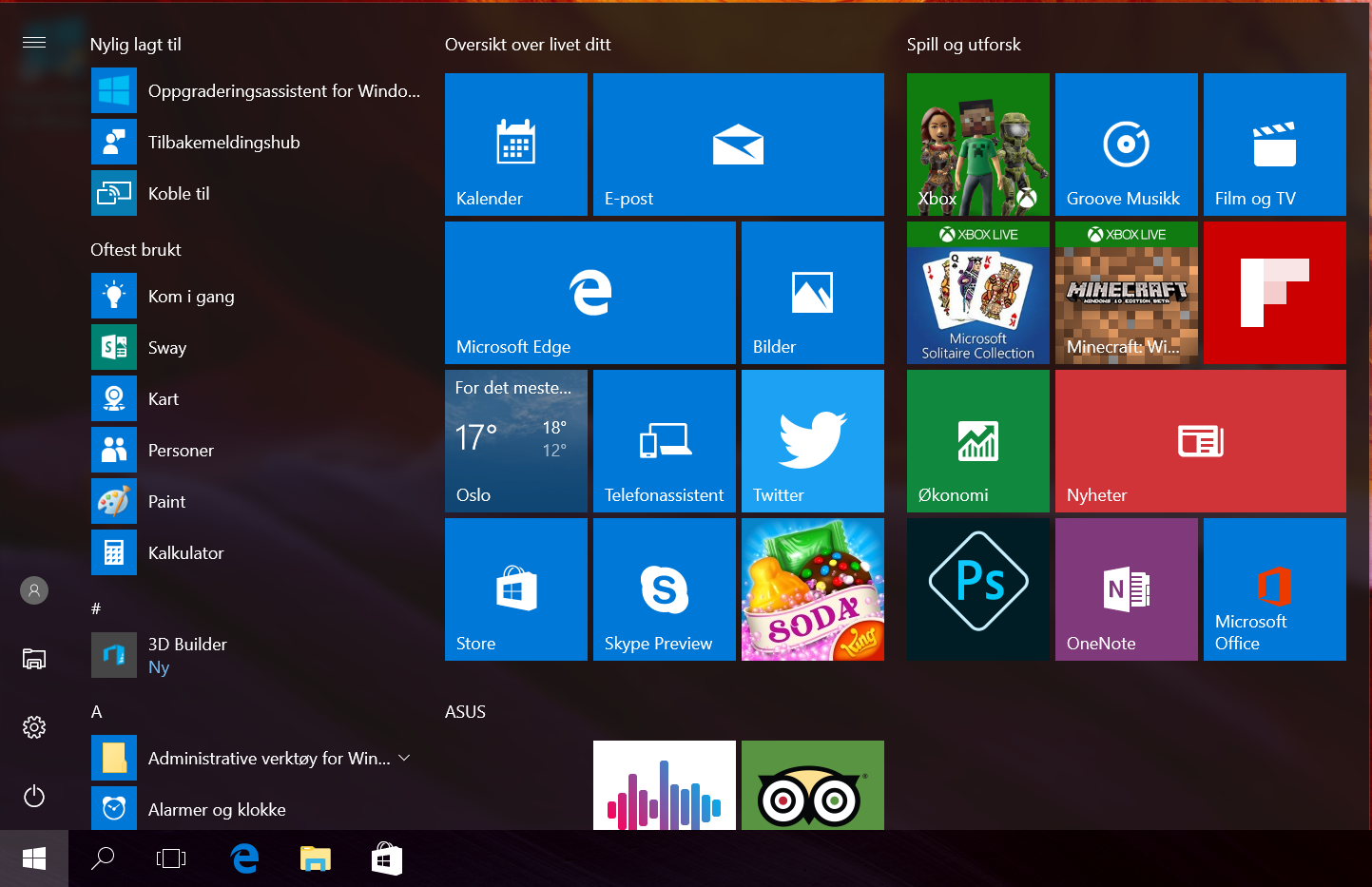 siste funksjonsoppdatering for windows10