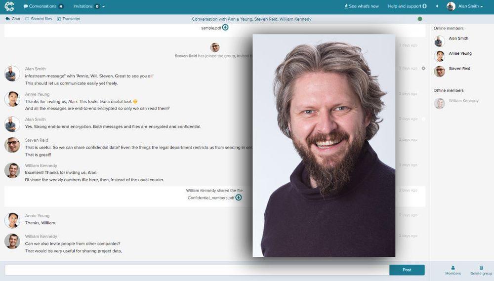 """""""Pitsjer"""" for TUs lesere: Krypteringsverktøyet Crypho er like enkelt å bruke som Skype og Messenger, uten at det går ut over kravene til sikkerhet i for eksempel politi og helsevesen, skriver Crypho-gründer Geir Bækholt i TUs nye serie Pitsj."""