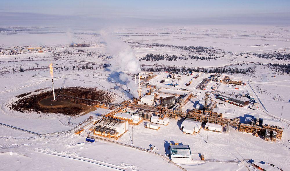Statoil eier 30 prosent av dette tundraoljefeltet i Nenets autonomoe region.