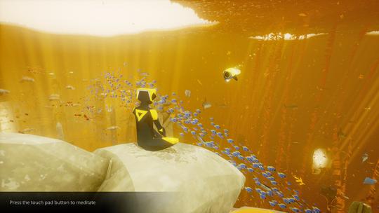 Spillet oppfordrer aktivt til meditering – her får man observere dyrelivet omkring seg.