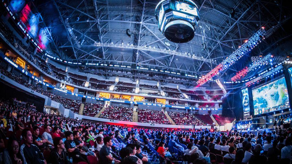 Stemningsbilde fra Dota 2-turneringen ESL One Manila 2016. Dette har ingenting med WESG å gjøre.