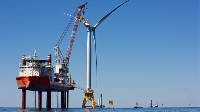 Her reiser det norske selskapet USAs første havvindmølle