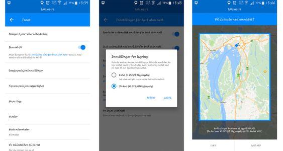Nå kan du lagre kartdata på forhånd på eksternt SD-kort.