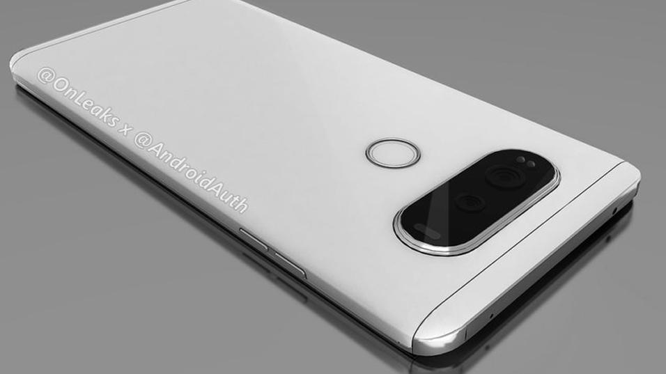 Slik skal LG V20 se ut, om illustrasjonene er korrekte.