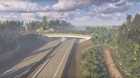 Brua, som skal være 64 meter lang og 32 meter bred skal være klar i juni 2018.