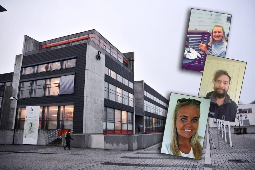 Universitetet i Stavanger har merket nedgangen i antall søkere på petroleumsfag. Men både Amailie Harestad (øverst), Alexander Trulsen og Siri Sandvik har troen på fremtiden i oljebransjen.