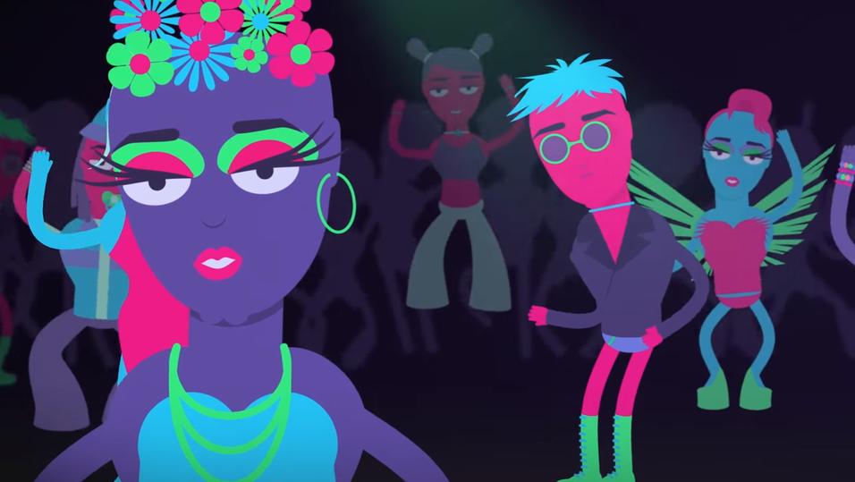 Spotify har lansert animasjonsserie om dansemusikk, og mer er på vei.