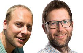 Pitsjer: Grunderne av Zivid Labs, Øystein Skotheim og Henrik Schumann-Olsen.