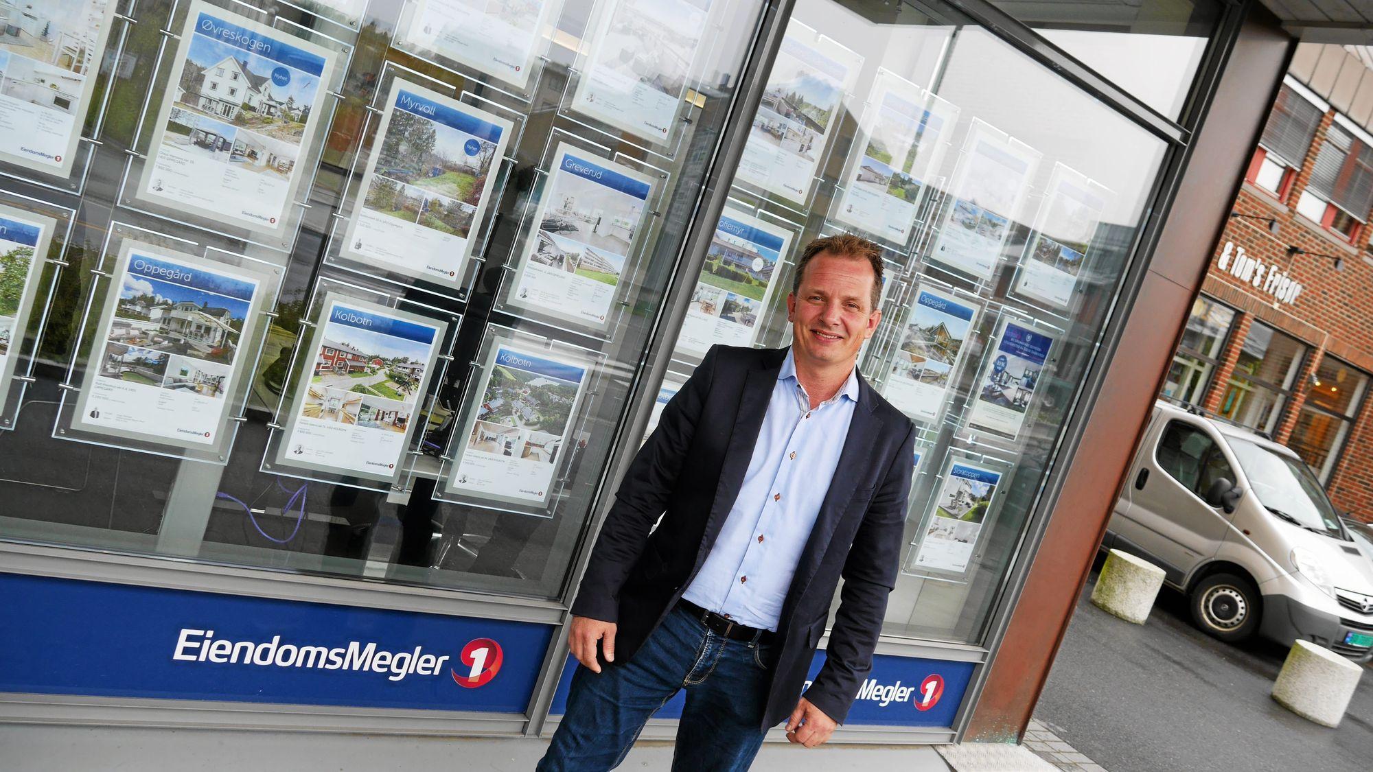 TROR PÅ TIDEN FREMOVER: Bent André Norderhaug, eiendoms-megler MNEF i Eiendomsmegler 1.