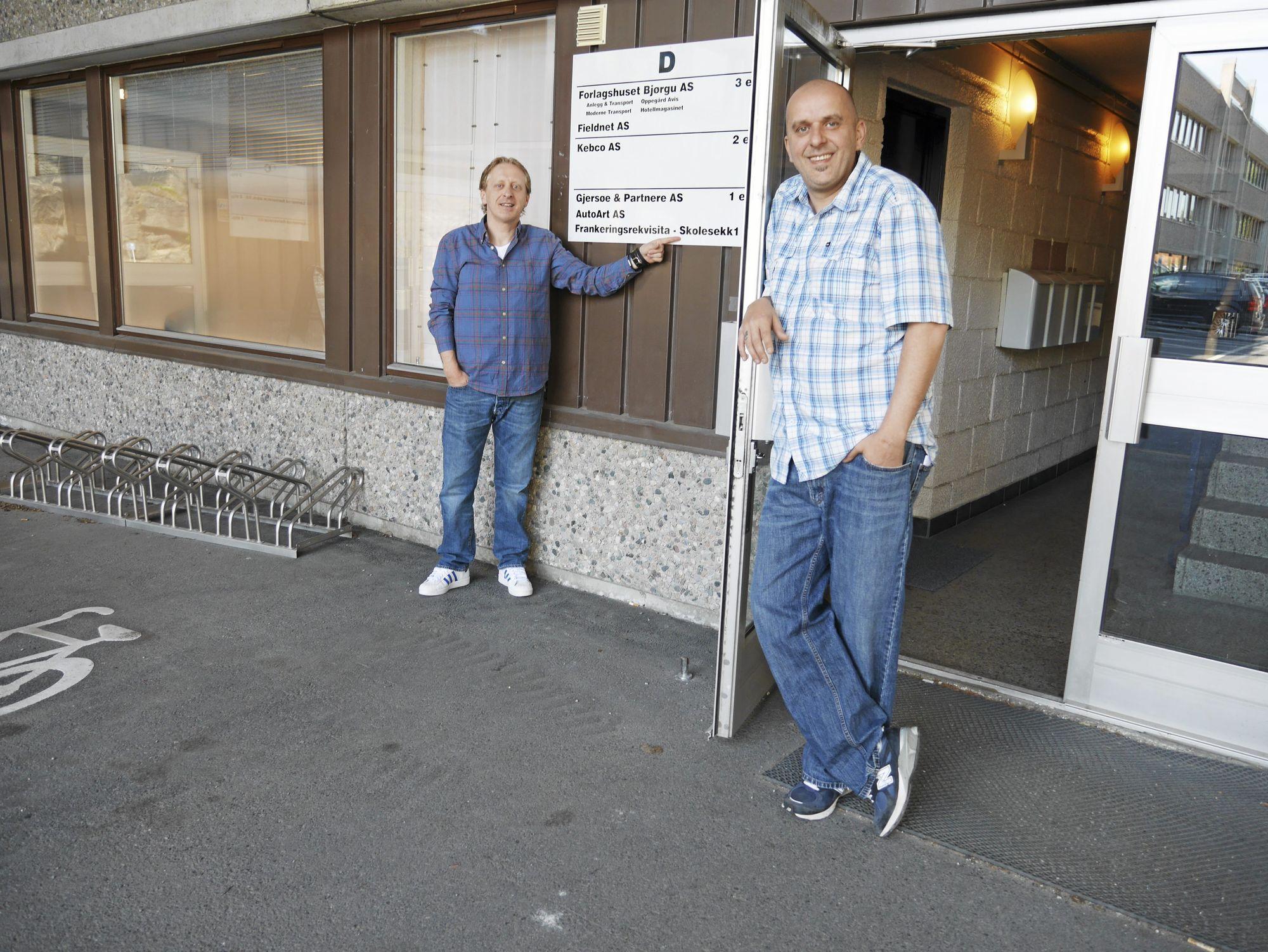 NYE LOKALER: Thomas og Trond Johansen leier et lokale på 80 kvadratmeter i Håndverkshuset i Sofiemyrveien 6D.