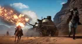 Betaen byr blant annet på hester og pansret tog.