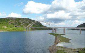 Bøkfjordbrua er en 284 meter lang buebru av stål, som skal bygges 200 meter nedenfor den eksisterende brua ved Elvenes. Brua er foreløpig forsinket, men skal om alt går etter planen være ferdig i løpet av 2017.