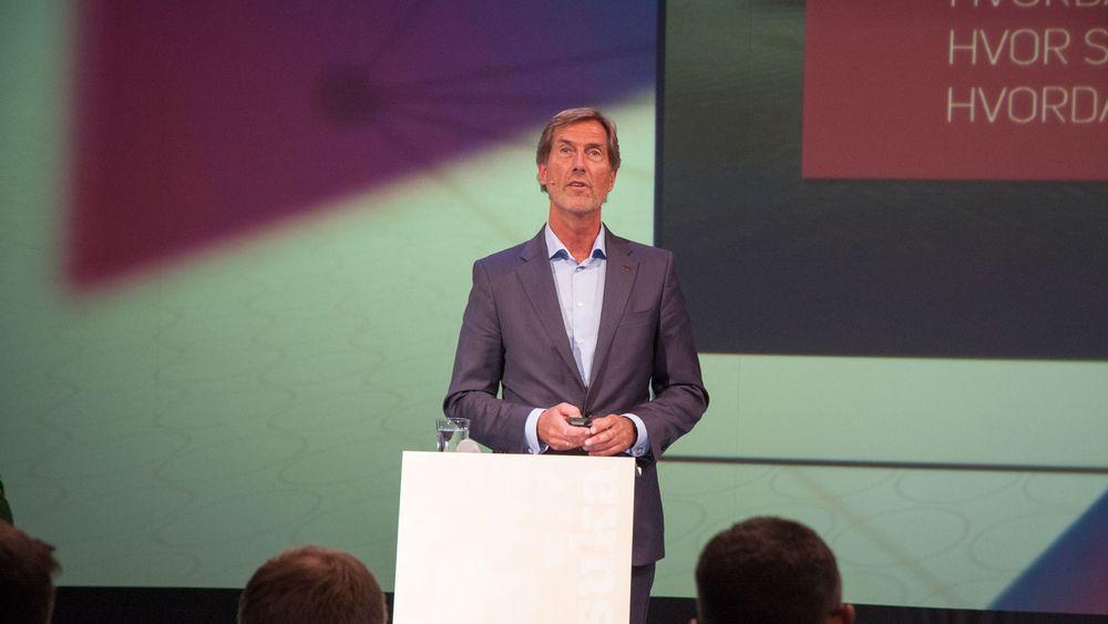 Walter Qvam presenterte det nye Toppindustrisenteret i Arendal tirsdag kveld.