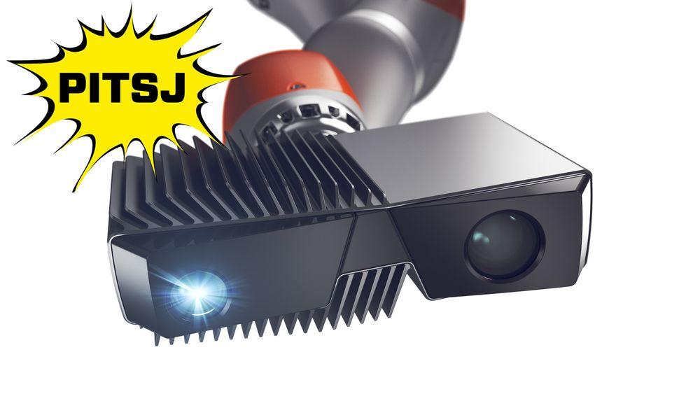 Pitsj: Zivids 3D-kamera har et 3D-punkt med cirka 0,1 millimeters oppløsning, som er cirka 50-100 ganger mer nøyaktig enn Microsofts Kinect-kamera. Her pitsjer gründeren kameraet inn for TU.nos lesere.